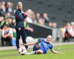 Everton Ladies midfielder Kelly Jones (11) fails to keep the ball in  - Photo mandatory by-line: Nigel Pitts-Drake/JMP - Tel: Mobile: 07966 386802 01/06/2014 - SPORT - FOOTBALL - LADIES - Stadium mk - Milton Keynes - Arsenal Ladies v Everton Ladies - The FA Women's Cup Final