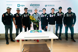 during press conference of Slovenian Ski Cross Country team after Tour de Ski and Ski Jumping team after 4 Hills Tournament, on January 7, 2020 in Triglav Lab, Ljubljana, Slovenia. Photo By Grega Valancic / Sportida