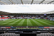 General view of the stadium, before the Premier League match between Swansea City and Watford at the Liberty Stadium, Swansea, Wales on 23 September 2017. Photo by Andrew Lewis.