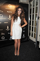 STACEY SOLOMON at Quintessentially's 10th birthday party held at The Savoy Hotel, London on 13th December 2010.