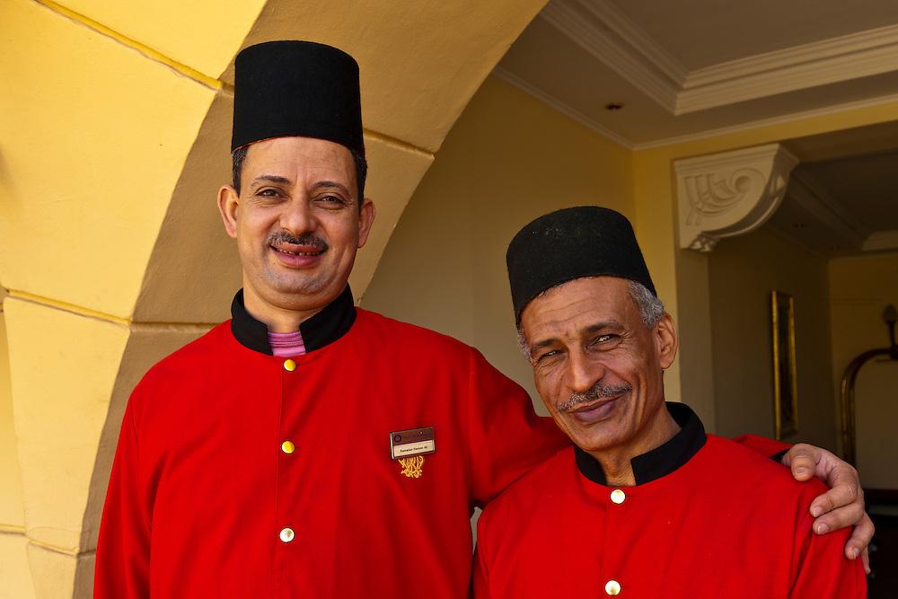 Doormen, Sofitel Winter Palace Hotel on the Corniche, Luxor, Egypt