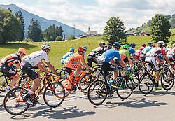 07.07.2017, St. Johann Alpendorf, AUT, Ö-Tour, Österreich Radrundfahrt 2017, 5. Kitzbühel - St. Johann/Alpendorf (212,5 km), im Bild Feature, Peloton // Feature, Peloton during the 5th stage from Kitzbuehel - St. Johann/Alpendorf (212,5 km) of 2017 Tour of Austria. St. Johann Alpendorf, Austria on 2017/07/07. EXPA Pictures © 2017, PhotoCredit: EXPA/ JFK