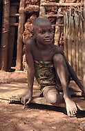 Young girl in a remote village of Mambele, southeast Cameroon.