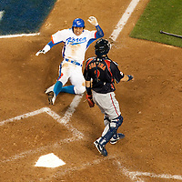 23 March 2009: #50 Hyun Soo Kim of Korea ties the score 3-3 in the bottom of the ninth inning during the 2009 World Baseball Classic final game at Dodger Stadium in Los Angeles, California, USA. Japan defeated Korea 5-3.