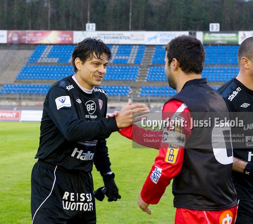 Jari Litmanen, Alexei Eremenko Jr. FC Lahti - Jaro. Veikkausliiga. Lahti 17.4.2010. Photo: Jussi Eskola