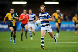 Bath Full Back Nick Abendanon chases back - mandatory by-line: Rogan Thomson/JMP - Tel: 07966 386802 - 23/05/2014 - SPORT - RUGBY UNION - Cardiff Arms Park, Wales - Bath Rugby v Northampton Saints - Amlin Challenge Cup Final.