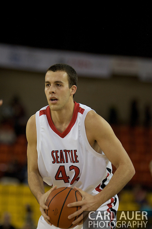 November 29th, 2008:  Anchorage, Alaska - Seattle University forward Austen Powers (42) in the third place game on the final day of the Great Alaska Shootout.