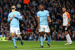 Bernardo Silva and Raheem Sterling of Manchester City react after missing a chance - Mandatory by-line: Matt McNulty/JMP - 26/09/2017 - FOOTBALL - Etihad Stadium - Manchester, England - Manchester City v Shakhtar Donetsk - UEFA Champions League Group stage - Group F