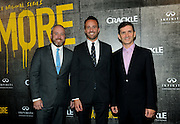 """Brendan Kelly, executive producer, writer;  Eric Berger, EVP, Digital Networks, Sony Pictures Television and General Manager, Crackle; and Chuck Rose, creator, writer, executive producer, left to right, attend Crackle's """"The Art of More"""" season two premiere, Tuesday, Nov. 15, 2016, at the Museum of Arts and Design in New York. Sony's streaming network, Crackle, will launch season two of its first original scripted drama, """"The Art of More,"""" on November 16th.  (Photo by Diane Bondareff/Invision for Crackle/AP Images)"""