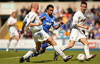 Fotball<br /> England 2004/2005<br /> Foto: SBI/Digitalsport<br /> NORWAY ONLY<br /> <br /> Millwall V Burnley<br /> Coca-Cola Championship<br /> The Den.<br /> 08/05/2005<br /> <br /> Millwall's Paul Ifill and Burnley's John McGreal run with the ball towards goal.