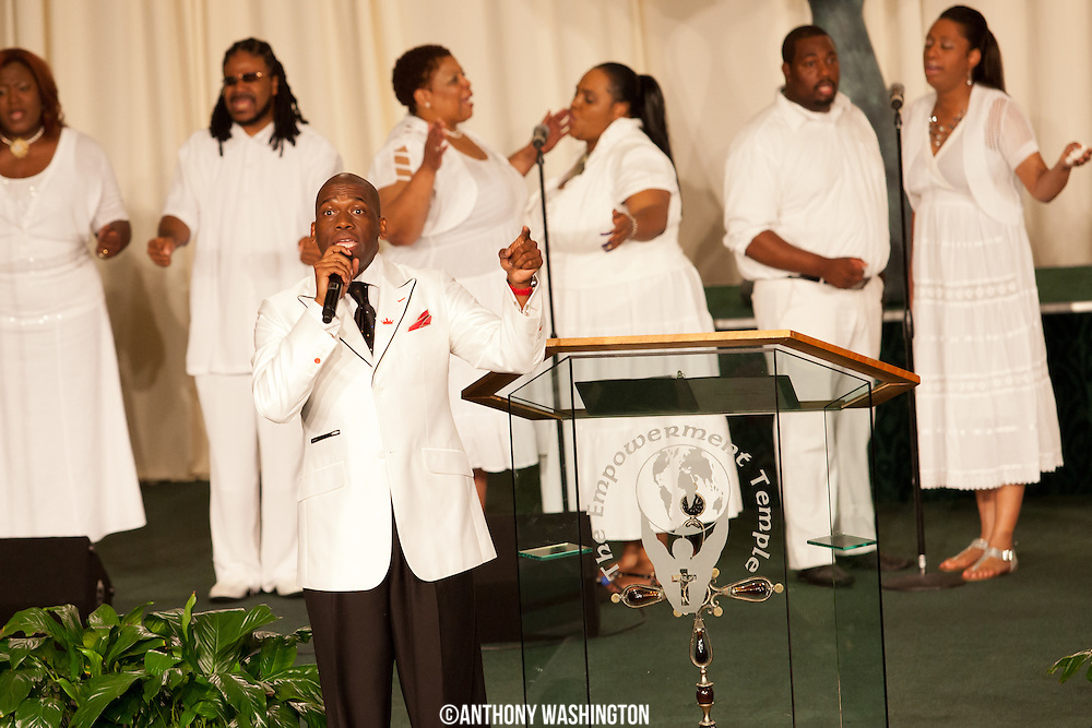 Rev. Dr. Jamal Harrison Bryant at Empowerment Temple A.M.E. church on Saturday, May 26, 2012.
