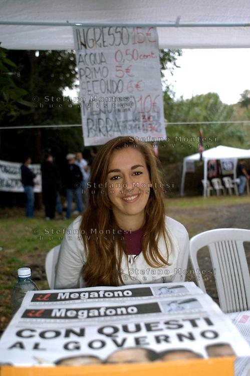 Roma 3 Ottobre 2008.Campo D'Azione di Forza Nuova a Casa Montag.Field action of the party 'Forza Nuova' (New Force) Casa Montag