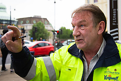 Ned DeNiro, 66, from Crystal Palace speaks about the latest Brexit developments. Wimbledon, London, June 07 2018.