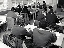 Elliott Durham Secondary school, Nottingham, UK 1987. The school is now part of Nottingham Academy, one of the largest schools in Europe