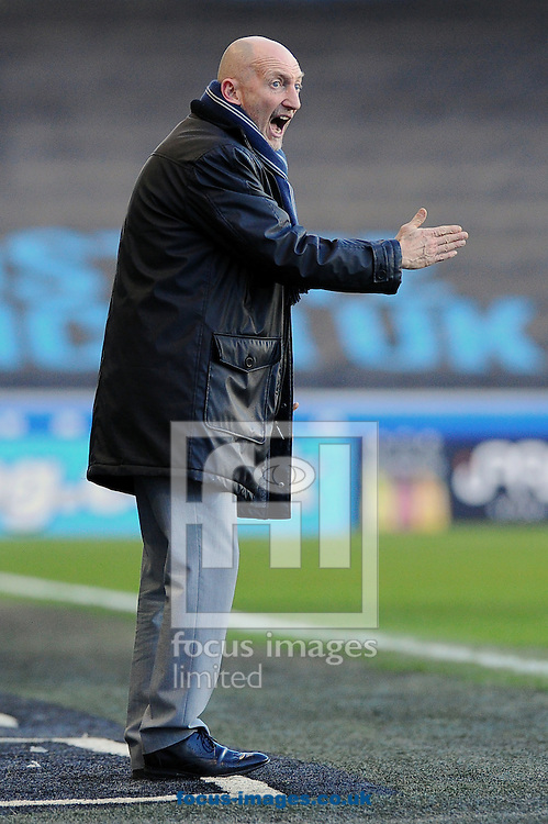 Manager of Millwall Ian Holloway hands out instructions to his players during the Sky Bet Championship match at The Den, London<br /> Picture by Seb Daly/Focus Images Ltd +447738 614630<br /> 17/01/2015