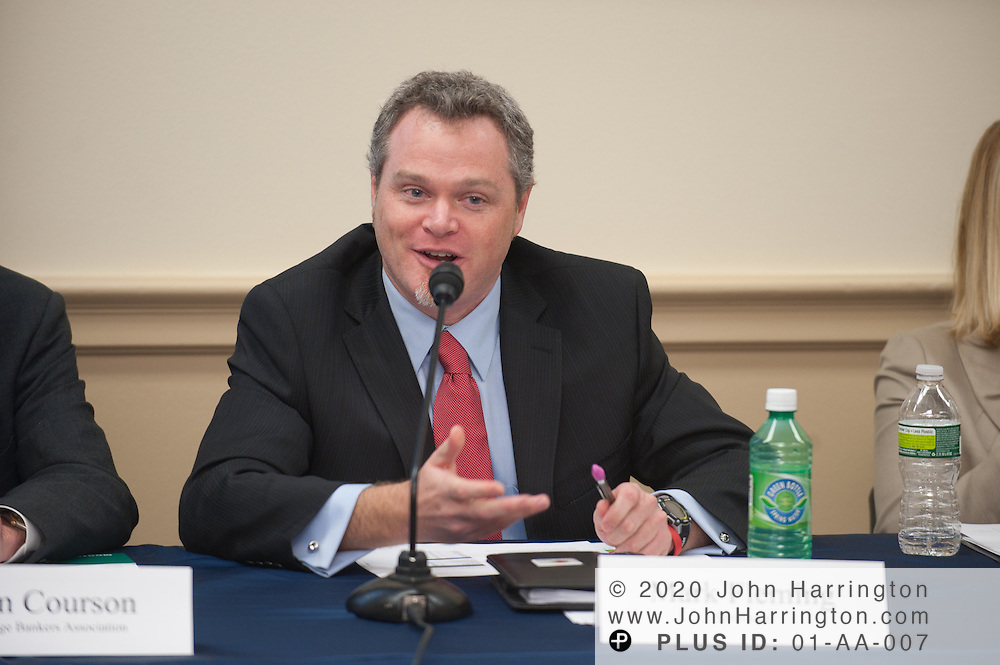Panelist Mark Fleming, Chief Economist of CoreLogic speaks in a panel discussion on housing finance reform presented by Radian at the Rayburn House Office Building in Washington, DC on January 21st, 2011. Radian, a company that facilitates the sales of affordable mortgages and provides private mortgage insurance brought together top executives from similarly focused companies to discuss housing finance reform and how private and public sectors play a role in it.