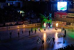 John Hughes (HDD Tilia Olimpija, #72) before ice-hockey match between HDD Tilia Olimpija and EHC Liwest Black Wings Linz at fourth match in Semifinal  of EBEL league, on March 13, 2012 at Hala Tivoli, Ljubljana, Slovenia. (Photo By Matic Klansek Velej / Sportida)