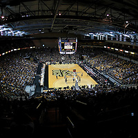 A general court view of the UCF Arena during the NCAA basketball game between the USF Bulls and the UCF Knights at the UCF Arena on November 18, 2010 in Orlando, Florida. UCF won the game 65-59. (AP Photo/Alex Menendez)