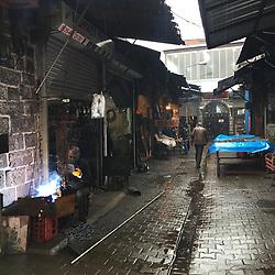 The Savas neighborhood in the Sur district of  Diyarbakir, Turkey. Photographed on March 22, 2017.