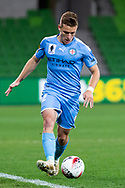 MELBOURNE, AUSTRALIA - SEPTEMBER 18: Scott Galloway (2) of Melbourne City runs the ball downfield during the FFA Cup Quarter Finals match between Melbourne City FC and Western Sydney Wanderers FC at AAMI Park on September 18, 2019 in Melbourne, Australia. (Photo by Speed Media/Icon Sportswire)