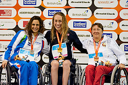 GHIRETTI Giulia, RUNG Sarah Louise, SHAVEL Natalia Bratiuk LW8 ITA, NOR, BLR at 2015 IPC Swimming World Championships -  Women's 100m Breaststroke SB4