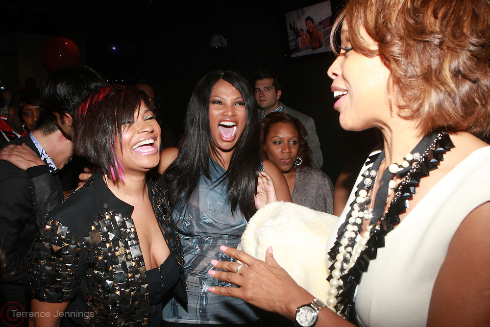 "l to r: Joumanna Kidd, Kali "" Kittie"" Troy,, Sandra ""Pep"" Denton, Gayle King at the Celebration for the Finale episode of the VH1 hit reality show ' Let's talk about Pep held at the Comix Club on March 1, 2010 in New York City."