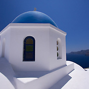 Up close to the iconic image of the Cyclades - the Blue domed churches of Santorini. Simple & stunning, surrounded by natural beauty in abundance.
