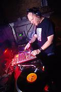 DJ Paul Daley (Leftfield) dj'ing at World DJ Day Fabric London March 2002