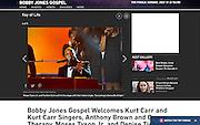 Moses Tyson, Jr., and Twinkie Clark on BET's Bobby Jones Gospel Hour.