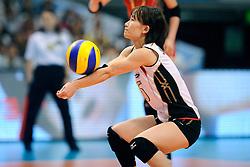 21-08-2009 VOLLEYBAL: WGP FINALS JAPAN - NEDERLAND: TOKYO<br /> Japan wint met 3-0 van Nederland / Yuko SANO<br /> ©2009-WWW.FOTOHOOGENDOORN.NL
