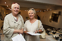 Anne Parken Peterson and Sheila Roche both from Tuam at Sioban Piercy's exhibition Foreign Bodies at NUI, Galway  for the Galway international Arts Festival. Photo:andrew Downes xposure