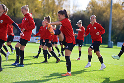 NEWPORT, WALES - Tuesday, November 6, 2018: Wales' Ffion Morgan during a training session at Dragon Park ahead of two games against Portugal. (Pic by Paul Greenwood/Propaganda)