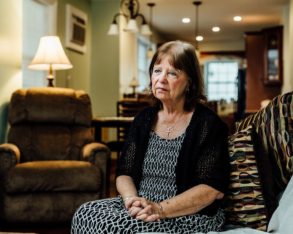 """Debbie Byrne, 62, Staten Island, NY, USA. """"I lost everything I'd worked for."""" 