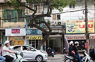 Motocyclists on Hoang Hoa Tham Street, Hanoi, Vietnam, Southeast Asia