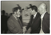 TOM PHILLIPS; CHARLES SAATCHI; ALLEN JONES, Sensation Opening. Royal Academy of Art. London.16 September 1997.