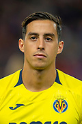 Ramiro Funes Mori (#4) of Villarreal CF before the Europa League group stage match between Rangers FC and Villareal CF at Ibrox, Glasgow, Scotland on 29 November 2018.
