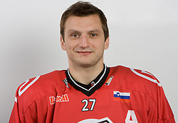 Miha Rebolj at HK Acroni Jesenice Team roaster for 2009-2010 season,  on September 03, 2009, in Arena Podmezaklja, Jesenice, Slovenia.  (Photo by Vid Ponikvar / Sportida)