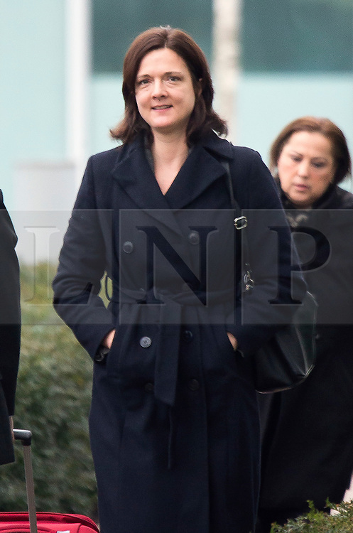 """© Licensed to London News Pictures. 30/01/2017. Manchester UK. Assistant Chief Constable Rebekah Sutcliffe arriving at Manchester Police Headquarters this morning where she is due to appear at a further Gross Misconduct hearing at today. Chief Constable Sutcliffe has all ready been found guilty of Gross Misconduct after telling Superintendent Sarah Jackson she was """"silly, vain & frivolous"""" for getting breast implants during a senior Women in Policing conference. Today's hearing will determine what disciplinary action should be imposed on ACC Sutcliffe. Photo credit: Andrew McCaren/LNP"""