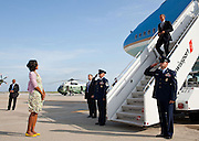14.JUNE.2012. NEW YORK<br /> <br /> FIRST LADY MICHELLE OBAMA WAITS TO GREET PRESIDENT BARACK OBAMA UPON HIS ARRIVAL AT JOHN F. KENNEDY INTERNATIONAL AIRPORT IN NEW YORK, N.Y., JUNE 14, 2012.  <br /> <br /> BYLINE: EDBIMAGEARCHIVE.CO.UK<br /> <br /> *THIS IMAGE IS STRICTLY FOR UK NEWSPAPERS AND MAGAZINES ONLY*<br /> *FOR WORLD WIDE SALES AND WEB USE PLEASE CONTACT EDBIMAGEARCHIVE - 0208 954 5968*