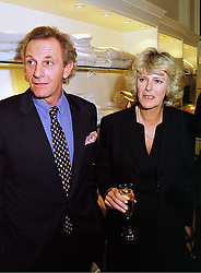 MR MARK SHAND and his sister MRS CAMILLA PARKER BOWLES, at a party in London on 13th October 1998.MKT 73