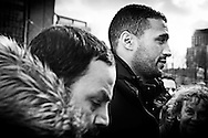 Amsterdam, 21 Februari 2014. Uitspraak proces Badr Hari, Rechtbank van Amsterdam. COPYRIGHT ROBIN UTRECHT