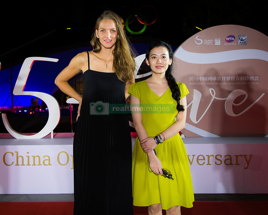 September 30, 2018 - Karolina Pliskova of the Czech Republic on the red carpet at the 2018 China Open WTA Premier Mandatory tennis tournament players party (Credit Image: © AFP7 via ZUMA Wire)