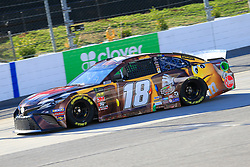 March 23, 2019 - Martinsville, VA, U.S. - MARTINSVILLE, VA - MARCH 23:  #18: Kyle Busch, Joe Gibbs Racing, Toyota Camry M&M's Chocolate Bar during practice for the STP 500 Monster Energy NASCAR Cup Series race on March 23, 2019 at the Martinsville Speedway in Martinsville, VA.  (Photo by David J. Griffin/Icon Sportswire) (Credit Image: © David J. Griffin/Icon SMI via ZUMA Press)
