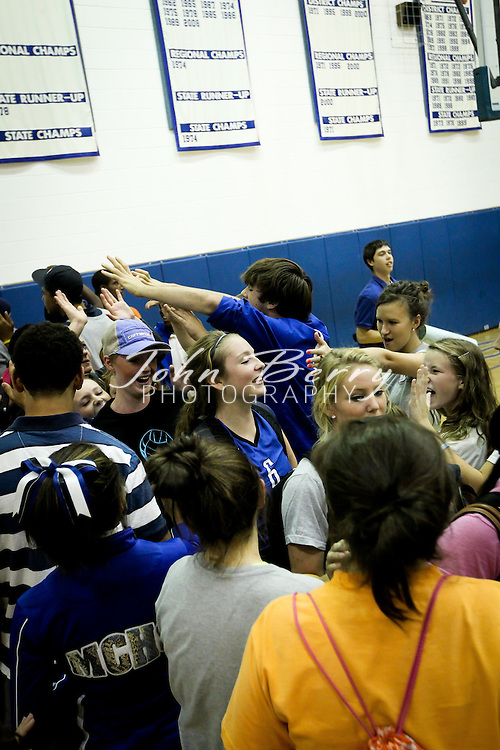 October/28/10:  MCHS Varsity Volleyball vs Rappahannock, Madison defeats the Lady Panthers in 5 sets.  With the win, Madison secures a second place finish in the Bull Run District.