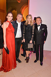 Left to right, YANA MAX, MARKUS LUPFER, DONNA AIR and LEON MAX at the Alexandra Shulman and Leon Max hosted opening of Vogue 100: A Century of Style at The National Portrait Gallery, London on 9th February 2016.