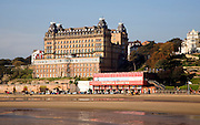 The Grand Hotel and seafront, Scarborough, Yorkshire, England