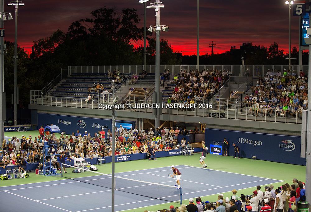 US Open 2016 Feature,Sonnenuntergang und Aussenplaetze,<br /> <br /> <br /> Tennis - US Open 2016 - Grand Slam ITF / ATP / WTA -  USTA Billie Jean King National Tennis Center - New York - New York - USA  - 2 September 2016.