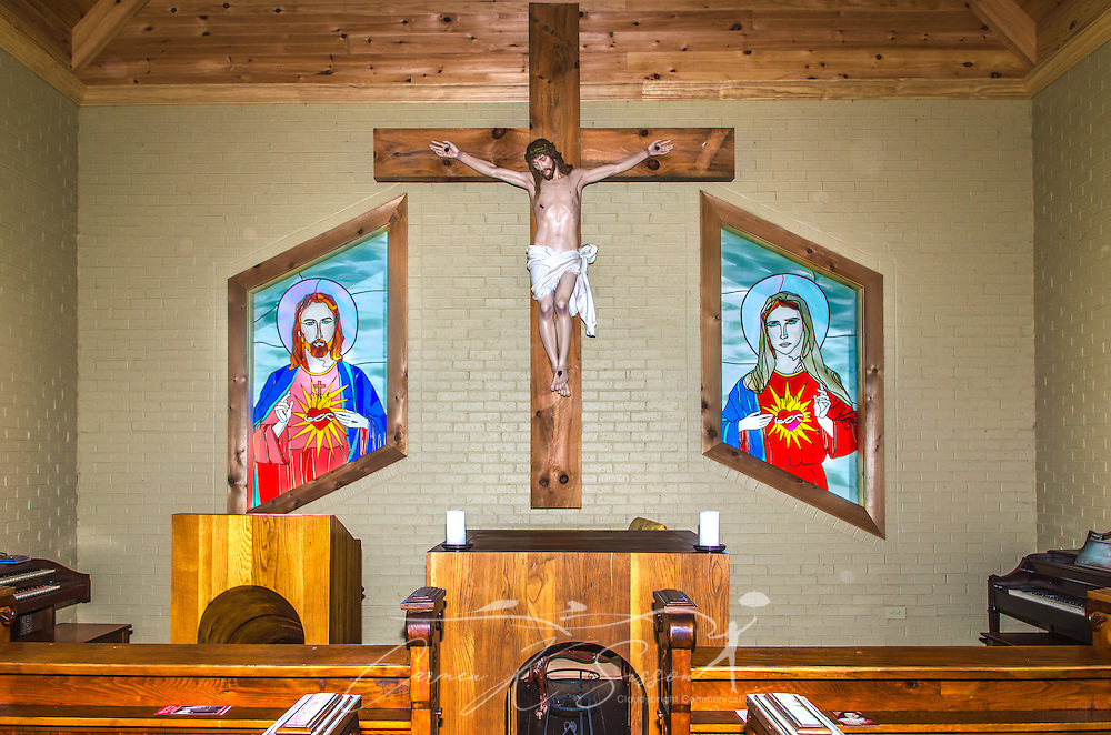 Chapel of Mercy is open to travelers and tourists in Greenwood, Miss. (Photo by Carmen K. Sisson)