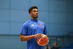 Marcus Delpeche of Bristol Flyers during the warm up - Photo mandatory by-line: Arron Gent/JMP - 28/04/2019 - BASKETBALL - Surrey Sports Park - Guildford, England - Surrey Scorchers v Bristol Flyers - British Basketball League Championship