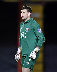 Bristol City goalkeeper, Frank Fielding/ in action during the FA Cup third round replay between Bristol City and Doncaster Rovers at Ashton Gate on January 13, 2015 in Bristol, England. - Photo mandatory by-line: Paul Knight/JMP - Mobile: 07966 386802 - 13/01/2015 - SPORT - Football - Bristol - Ashton Gate Stadium - Bristol City v Doncaster Rovers - FA Cup third round replay